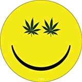 WEED INDEED en efecto!! Pot Smiley Rub-On Frote-On Marijuana STICKER ETIQUETA Officially Licensed Marijuana Weed Pot / Pop Culture Artwork, 3.75' x 4' Long Lasting STICKER ETIQUETA Decal