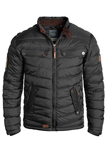 Blend Camaro Herren Steppjacke Übergangsjacke Jacke mit Stehkragen, Größe:XL, Farbe:Phantom Grey (70010)