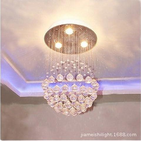 CLG-FLY Led lampada di cristallo lampadario appeso ristorante moderno e minimalista, luci luce scale nella sala,6500K (bianco freddo),500 * 700 - Vaso Appeso Catena