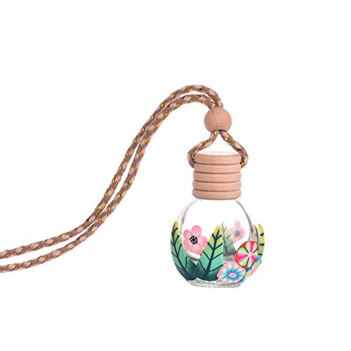 shyyymaoyi Modischer leerer Glas-Lufterfrischer für Parfüm, Flasche, tragbar, zum Aufhängen im Auto oder Zuhause Zufällige Farbauswahl -