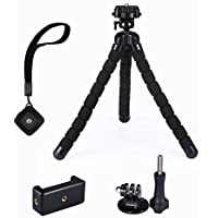 Mpow Trépied flexible style pieuvre avec déclencheur à distance Bluetooth pour smartphone, caméra GoPro et appareil photo numérique - Noir