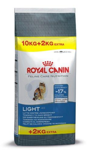 Royal Canin Katzenfutter Feline Light 40, 10 kg + 2 kg gratis, 1er Pack (1 x 12 kg Packung) -