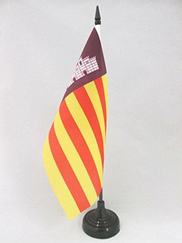 AZ FLAG TISCHFLAGGE Mallorca 21x14cm - Mallorca TISCHFAHNE 14 x 21 cm - flaggen