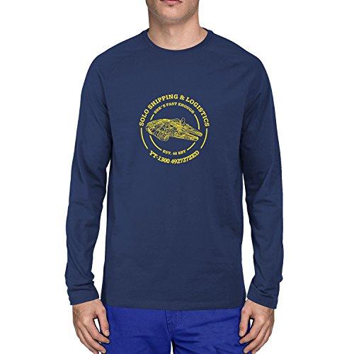 Han Chewie Kostüm Und - Solo Shipping & Logistics - Herren Langarm T-Shirt, Größe: M, dunkelblau