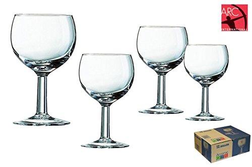 Arcoroc ARC 71695 Ballon Süßweinkelch, Weinglas, 120 ml, Glas, transparent, 12 Stück