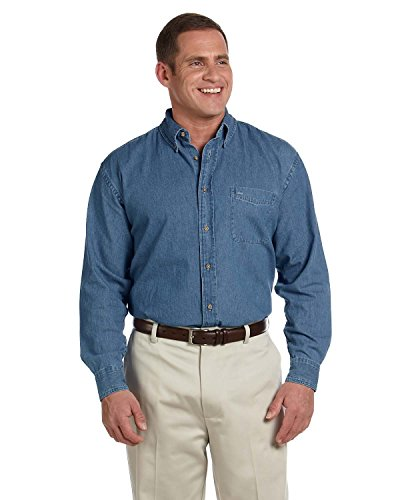 harriton-mens-65-oz-long-sleeve-denim-shirt-light-denim-xxxx-large
