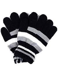 6d379afddae7 Vivianu Magic extensible Moufles en tricot Gants hiver chaud NEUF pour  enfants filles garçons enfants Noir