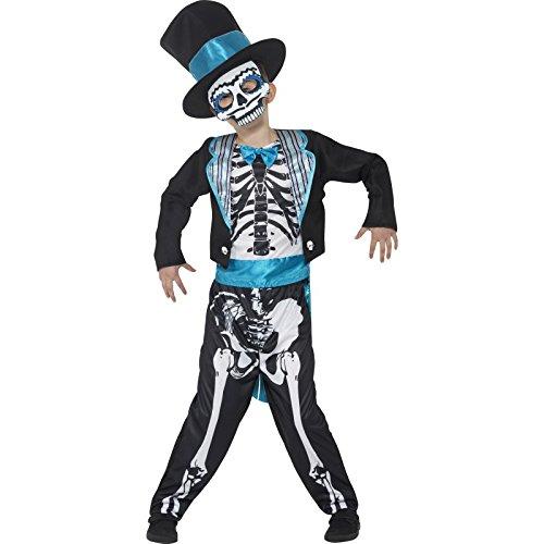 der Jungen Tag der Toten Bräutigam Kostüm, Alter: 10-12 Jahre, Größe: L, schwarz (Tag Der Toten Kostüme Für Kinder)