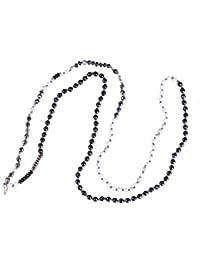 KELITCH Natural Piedra y Cristal Bead Largo Collar