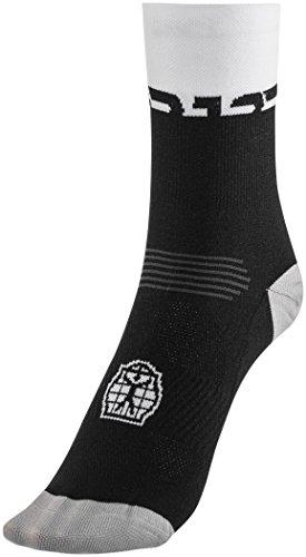 Bioracer Summer Socks Black-White Schuhgröße XL | 44-47 2018 Fahrradsocken (Racer Socken)