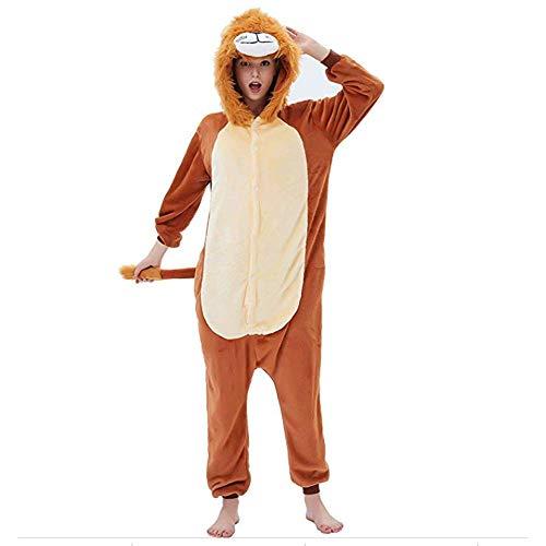 LIUJIE Winter Erwachsene Männer Frauen Unisex Sleepsuit Cosplay Halloween zu Hause Casual Kostüm Stück Pyjamas Outfit Baumwoll-Bademantel Verdickung Pyjamas,L (Zu Für Halloween Hause Kostüme)