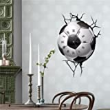 PAG STICKER 3D Wall Clock Decals Soccer ...