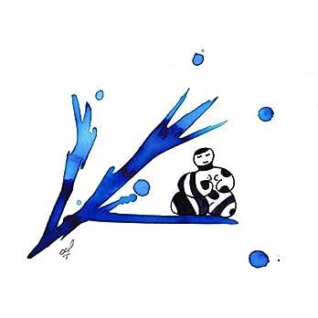 Olivier Cornil – Rêve en bleu – Tuschezeichnung – 24 x 17 cm