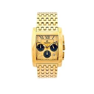 Oskar Emil padava Gold blk – Reloj para Hombres, Correa de Acero Inoxidable Color Plateado