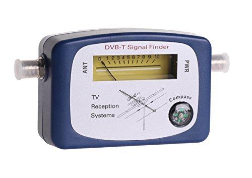 Cabletech MIE0202 DVB-T Finder, Hochwertiges Messgerät zum optimalen Einstellen der Fernsehantenne blau
