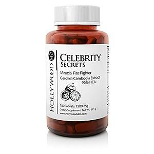 Das Fettverbrennungswunder der Stars – Miracle Fat Fighter mit Garcinia Cambogia Extrakt – 96% HCA – Appetitzügler – 1500 mg – 180 Tabletten
