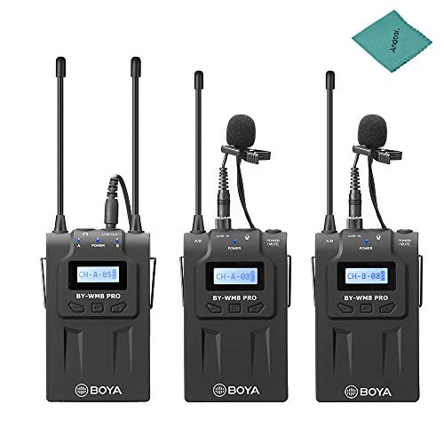 BOYA BY-WM8 Pro-K2 UHF Dual-Channel Wireless Microphone for sale  Delivered anywhere in UK