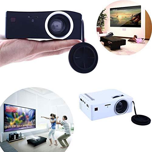 Sguan-wu Tragbarer Full HD 1080P LED-Projektor Heimkino-Kino HDMI AV-Mediaplayer - UK-Stecker Weiß