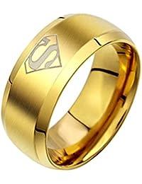 Sorella'z Golden Titanium Superman Ring for Men
