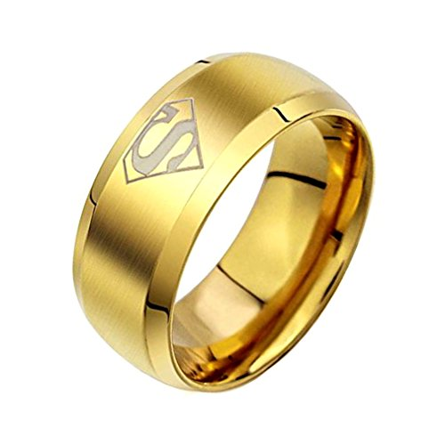 Sorella'z Superman Titanium Ring for Men's (Size 11)