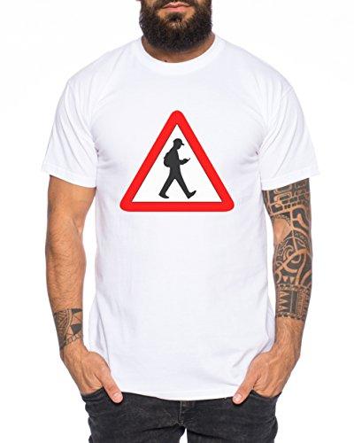 Anime Manga Cartoon Fun Nerd Jäger Herren T-Shirt Weiß