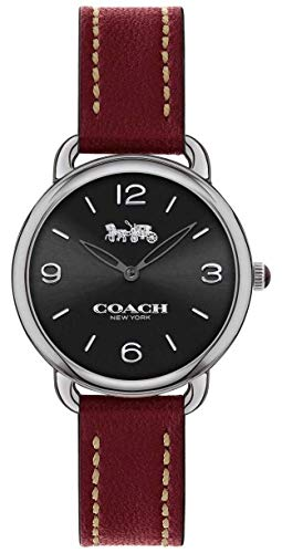 Coach Womens Delancey Slim Red Leather Strap 14502792