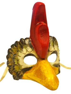 Deluxe Gallo Huhn Hahn Animal venezianischen Full Face Karneval Masquerade Maske