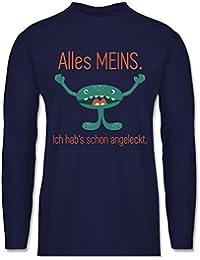 Sprüche - Kleines Monster - Alles Meins! Ich hab's schon angeleckt - Longsleeve / langärmeliges T-Shirt für Herren