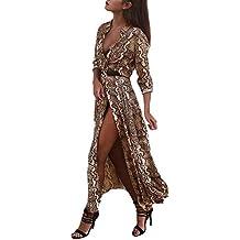 Vestiti Donna Elegante Lunga Vintage Moda Modello di Serpenti Abiti Estivi  Mode di Marca Stampate Autunno bb76cab6326