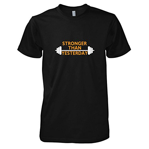 TEXLAB - Stronger than Yesterday - Herren T-Shirt Schwarz