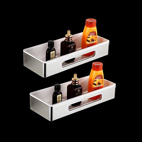 Yxsd 304 Edelstahl-Badezimmer-Regal, silberner rechteckiger Speicher-Netz-Korb, zerlegen (Size : 2 Tier) -