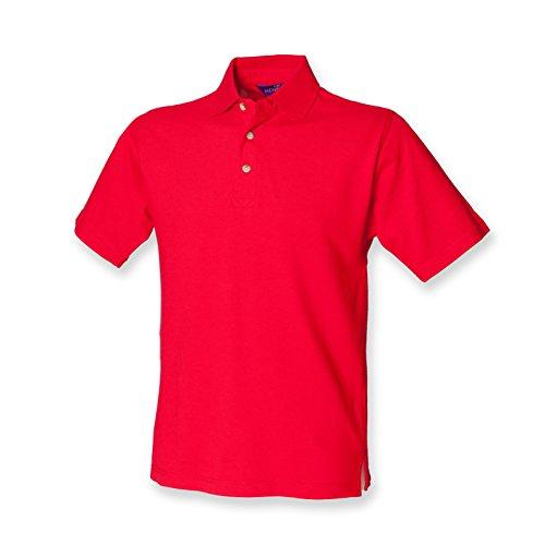 Henbury - Polo classica, piqué, pesante, a maniche corte Rosso (Classic red)