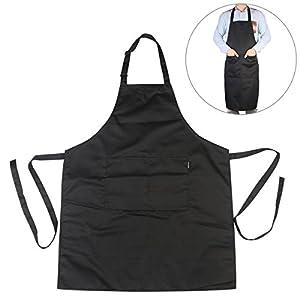 mandiles: Delantal babero Chef de chefs cocina delantal con correas de cuello ajustable y ...