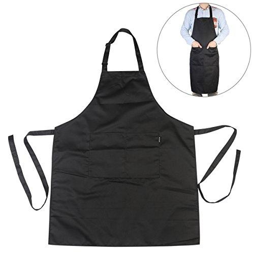 Pixnor BBQ Grillschürze Küchenschürze Mit Taschen Für Männer Schwarz