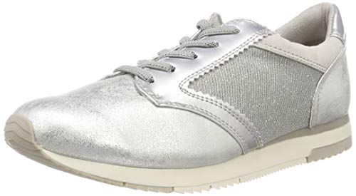 Tamaris Damen 23601-21 Sneaker, Silber (Silver Comb 948), 38 EU