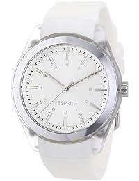 Esprit - ES900642001 - Play - Montre Femme - Quartz Analogique - Cadran Blanc - Bracelet Caoutchouc Blanc
