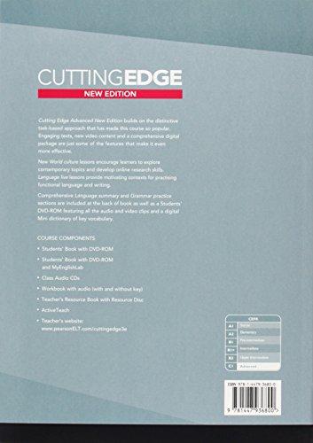 New cutting edge. Advanced. Student's book. Con espansione online. Per le Scuole superiori. Con DVD-ROM