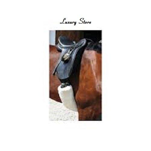 luxury Store Luxus Store Sattelgurtschoner, Schaffell alle Größen, Pferde Equipment Medical (Jumping 80cm x 12cm)