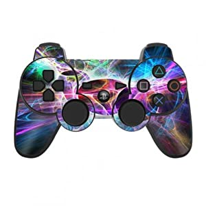 Skins4u Playstation 3 Controller Skin – Design Sticker Set für PS3 Gamepad – Static Discharge