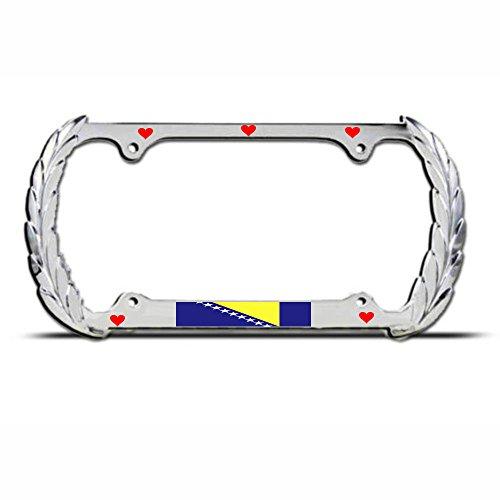 Kennzeichenrahmen für Geländewagen, Chrom, Metall, ideal für Männer, Frauen, Auto-Garadge, Dekoration