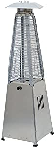 HAUSEN 3KW PYRAMID REAL FLAME PATIO GAS TABLE TOP HEATER GARDEN/OUTDOOR