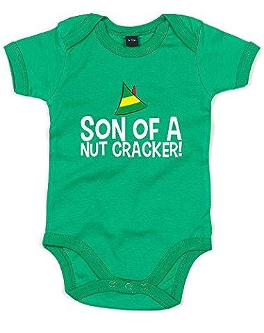 Son Of A Nutcracker, Imprimé bébé grandir - Vert/Blanc/Transfert 12-18 Mois