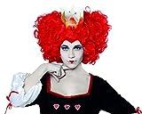 Angel prese S.A.-Parrucca arricciata, tema. regina Fantasia, colore: rosso