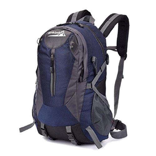 Z&N Backpack Capacità 30L Zaino Da Viaggio Di Svago Borsa A Vento Da College Borsa A Tracolla Sportiva Alpinismo Campeggio Multiuso Equitazione Unisex Portatile C 30L B