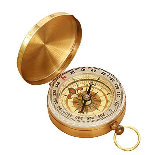 LSTC Leuchtstofflampen-Kompass Tragbarer Taschenuhr-Kompass Aufklappbarer Kompass Messing Metall Wasserdicht Camping Wandern Outdoor-Navigationswerkzeuge -