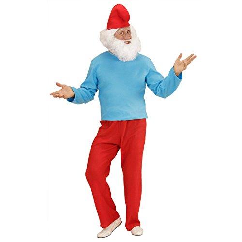 Papa Schlumpf Kostüm Großer Zwerg S 42/44 Schlumpfkostüm Vater Schlümpfe Comic Verkleidung Zwergenkostüm Erwachsene Herrenkostüm Fasching