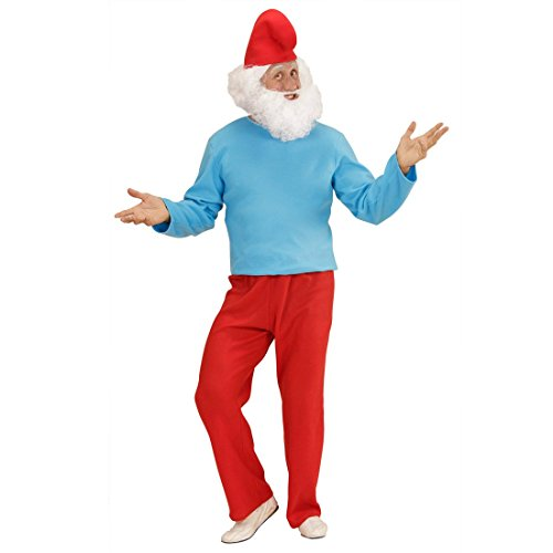 Papa Schlumpf Kostüm Großer Zwerg XL 54/56 Schlumpfkostüm Vater Schlümpfe Comic Verkleidung Zwergenkostüm Erwachsene Herrenkostüm (Schlümpfe Kostüme)