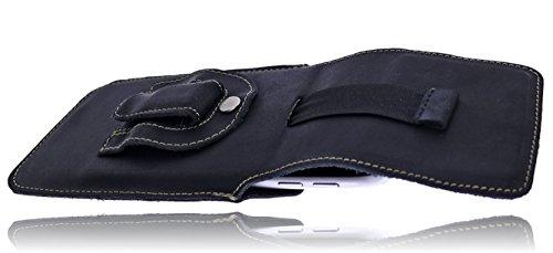 Burkley–Vintage Design–Pelle Custodia Per Apple iPhone SE/5/5S custodia elegante in | Custodia protettiva | Cellulare | Verticale della case caso telefono | | | | Cover con passante per cintura e  black / black