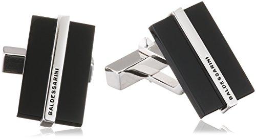 Baldessarini Herren-Manschettenknöpfe 925 Silber rhodiniert Onyx schwarz 1,9 cm - Y2140C/90/13/