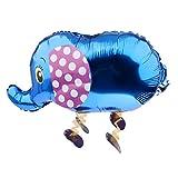 Generic Elefant Folienballon Folienballons Luftballons Baby Shower Hochzeit - Blau, S
